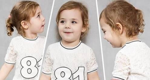 半扎头发也是儿童短发发型的首选发型之一,如同扎一个简单的小马尾