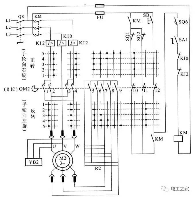 1.凸轮控制器电路图