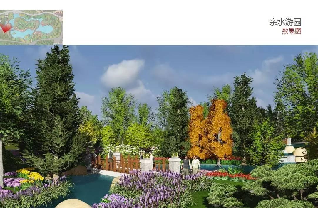 设计一个入口形象广场,主要设计以树木原型雕塑和阶梯式自然石砌矮墙