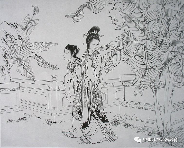 现代美女简笔画铅笔画