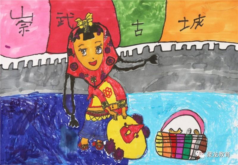聚龙外国语学校美术社团优秀作品展之——儿童画作品