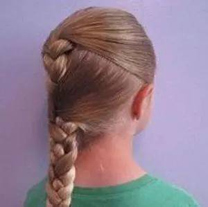 2款小孩子可爱的编发发型图解!
