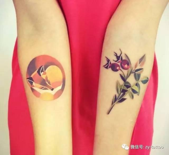性感妖娆的狐狸纹身.