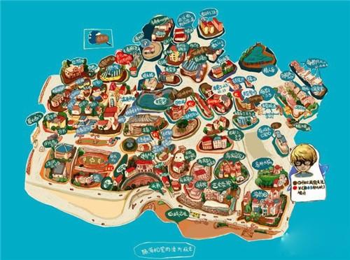 可爱的厦门手绘地图!