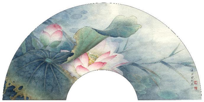 李晓明工笔白荷花画法 1