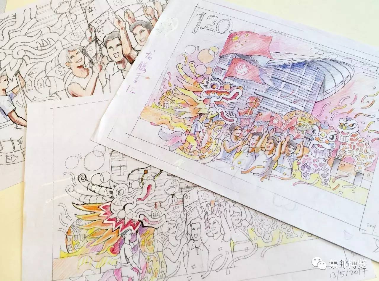 韩秉华谈《香港回归祖国二十周年》,手绘线稿见功力!
