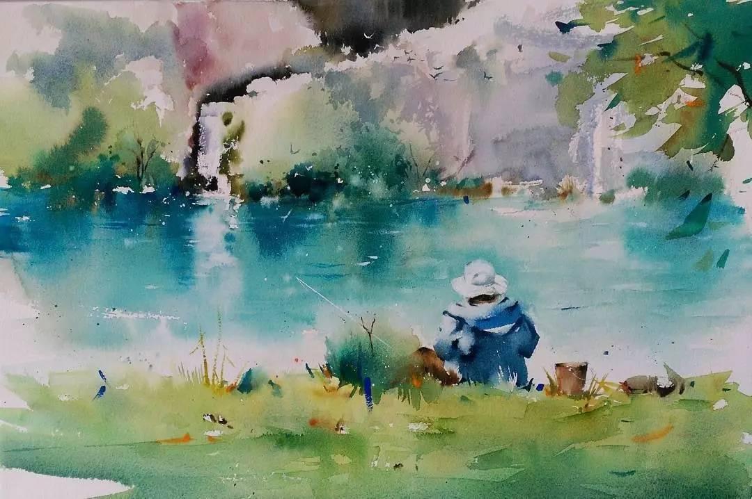 但是画面的层次感却很丰富 给人特别温柔的感觉 ▲ 她笔下的春夏秋冬图片