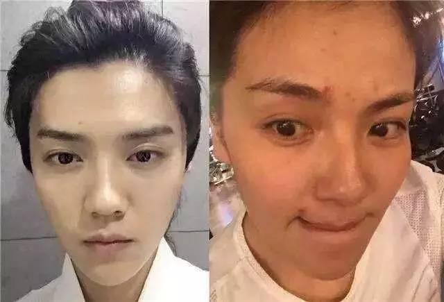 刘涛和蒋欣的素颜照,两位天然女神皮肤保养的都不错,不过刘涛有眼袋
