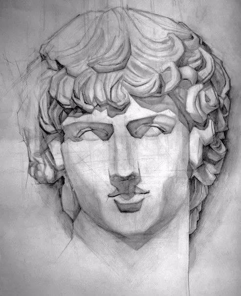 画素描人头像时一般人的两眼间距是多少