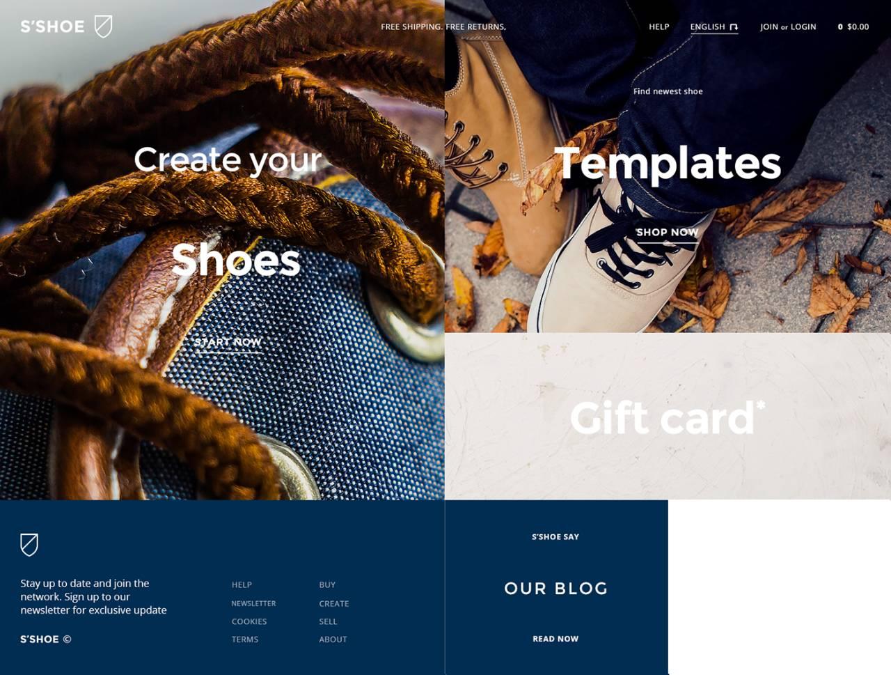 鞋店的网站这样设计,还怕产品卖不出去?图片