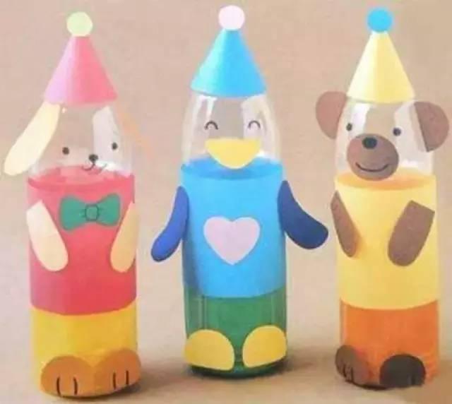 1.塑料瓶小动物