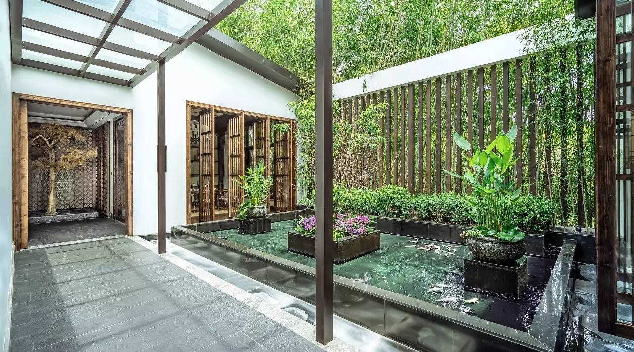 新中式庭院——竹语茶室,梦回诗意之境图片