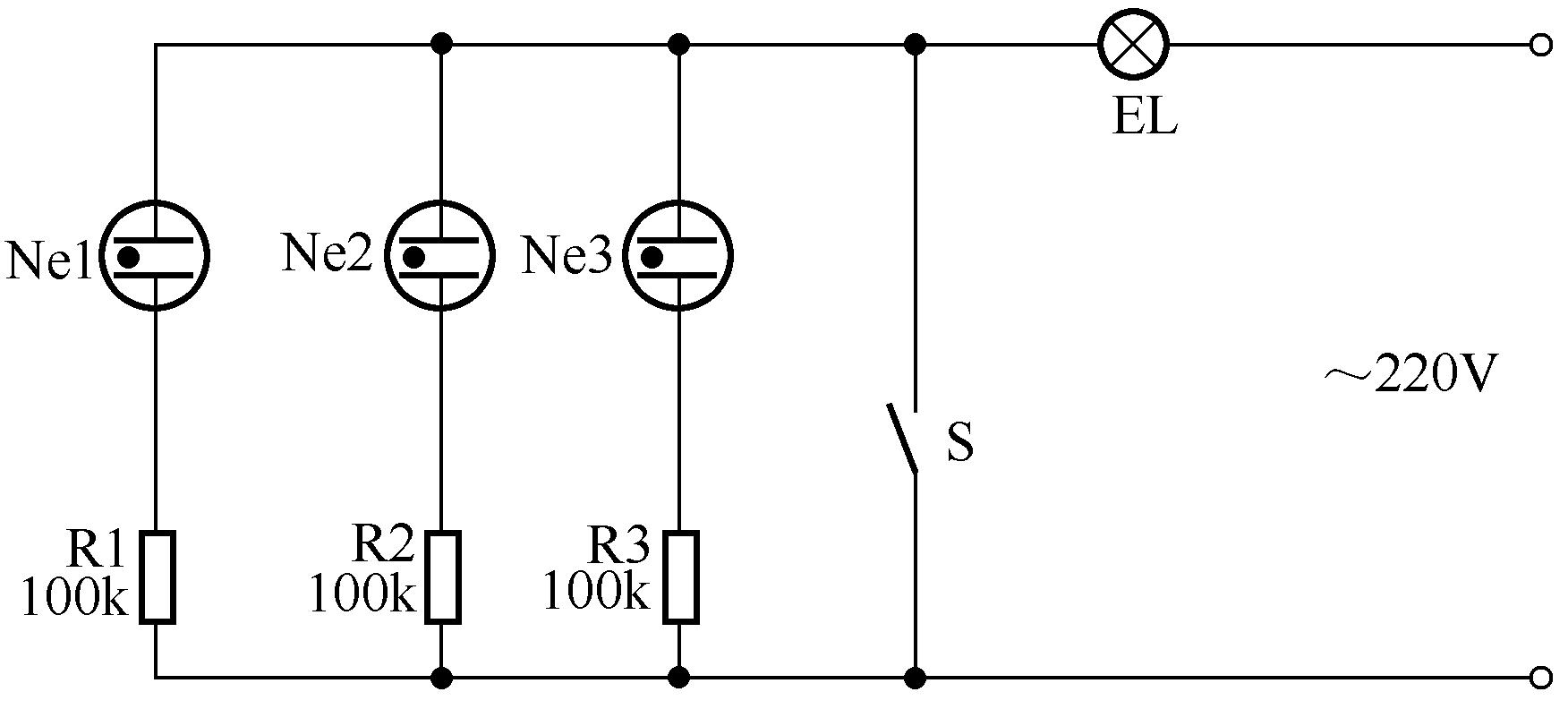 生控灯的原理图_二控一灯原理图