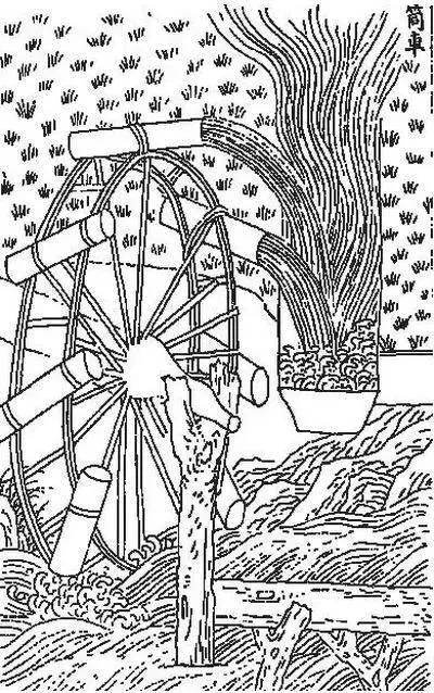 古代集市矢量图