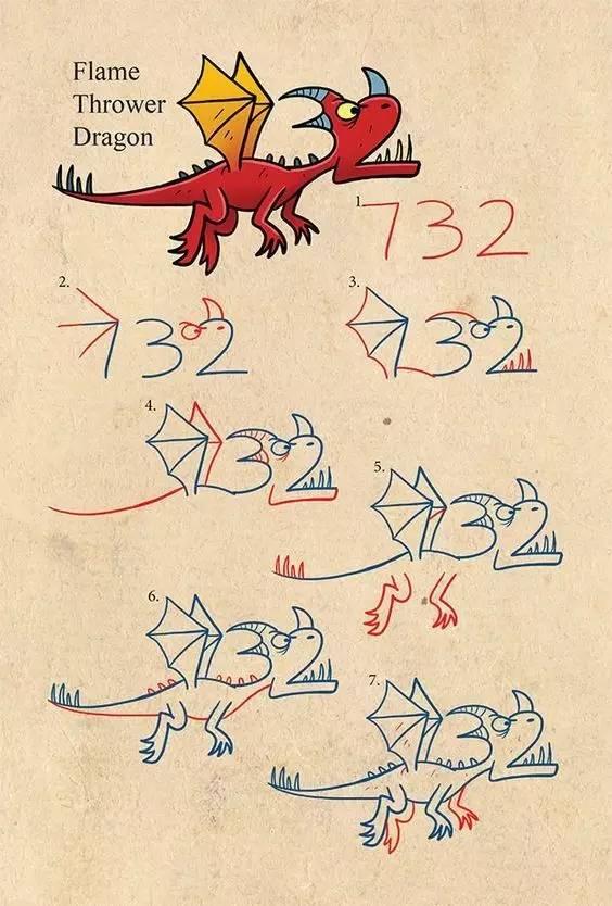 教你用一个英文单词或数字,画一堆超萌小动物,这创意碉堡了,好萌啊get