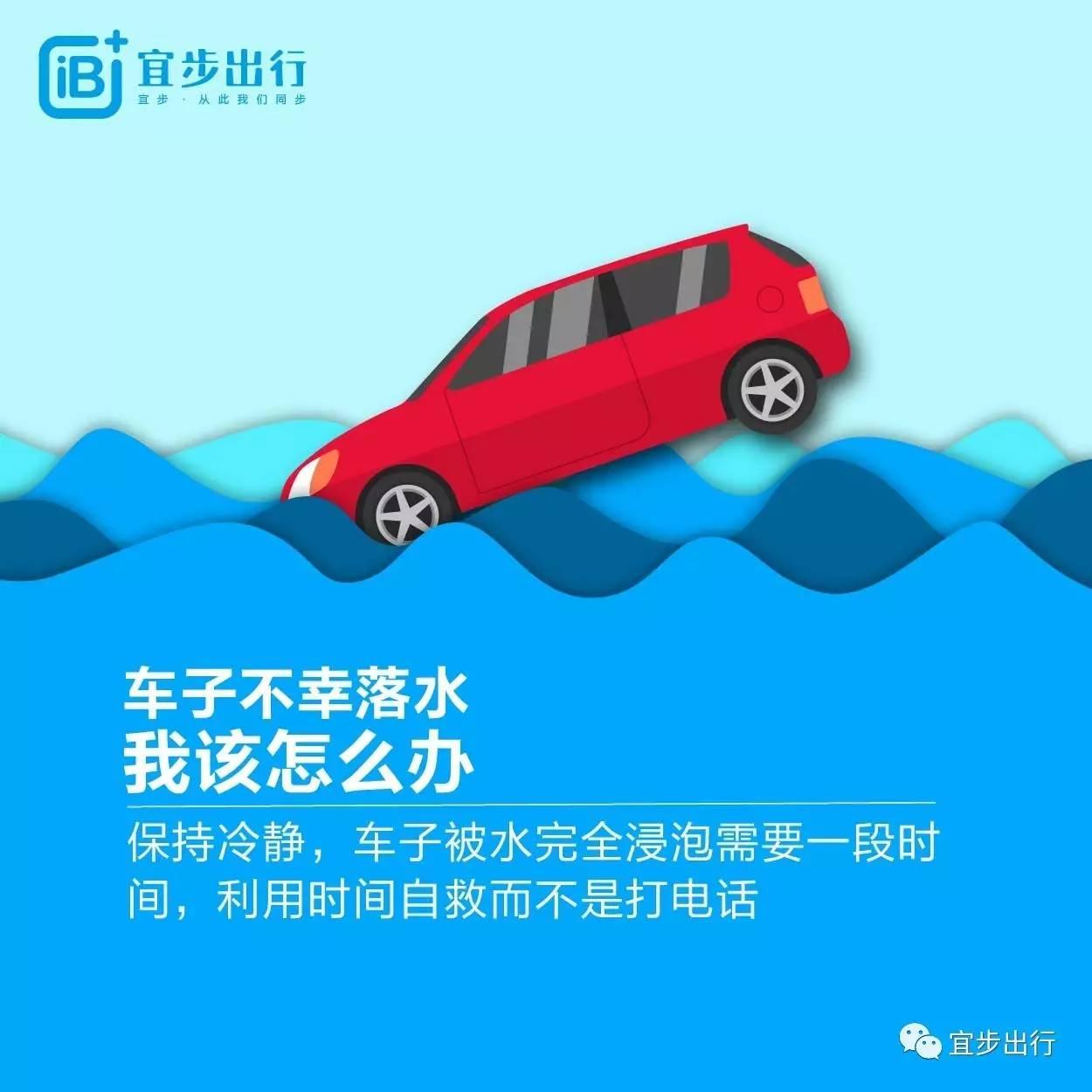 暴雨天,如果汽车不幸落水该怎么办?