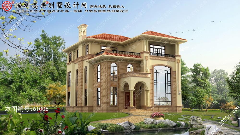 高档别墅设计图首层207平方米