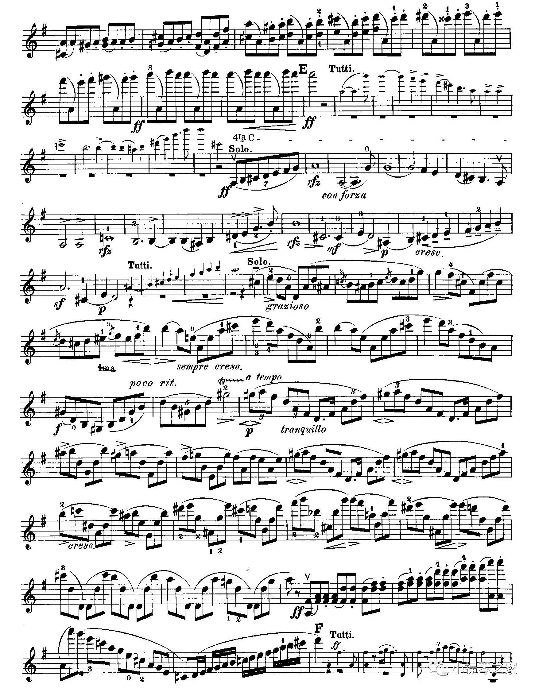 小提琴家们爱不释手的曲子:《布鲁赫g大调第一小提琴协奏曲》附乐谱图片