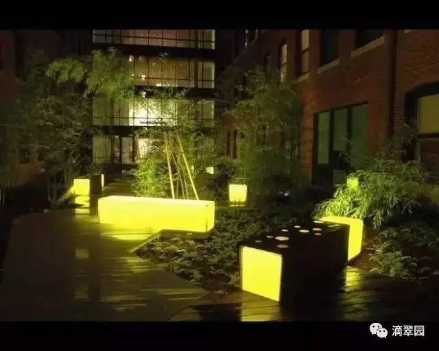 庭院景观设计中景观灯创意,让夜晚更好看图片
