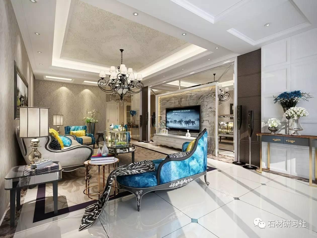 欧式客厅大理石装饰设计效果图_搜狐时尚_搜狐网