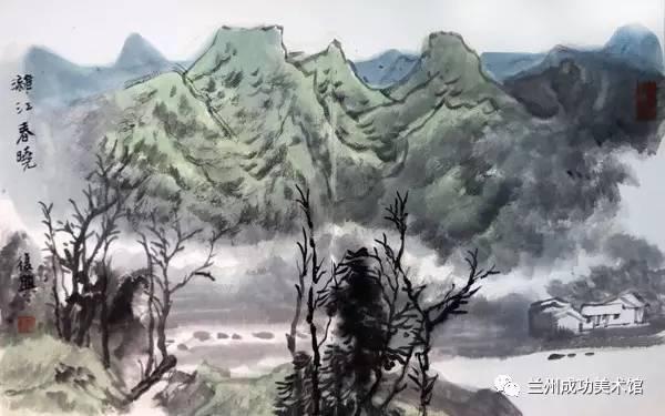 """【馆内动态】张复兴山水画作入""""翰墨消夏——成功美术"""