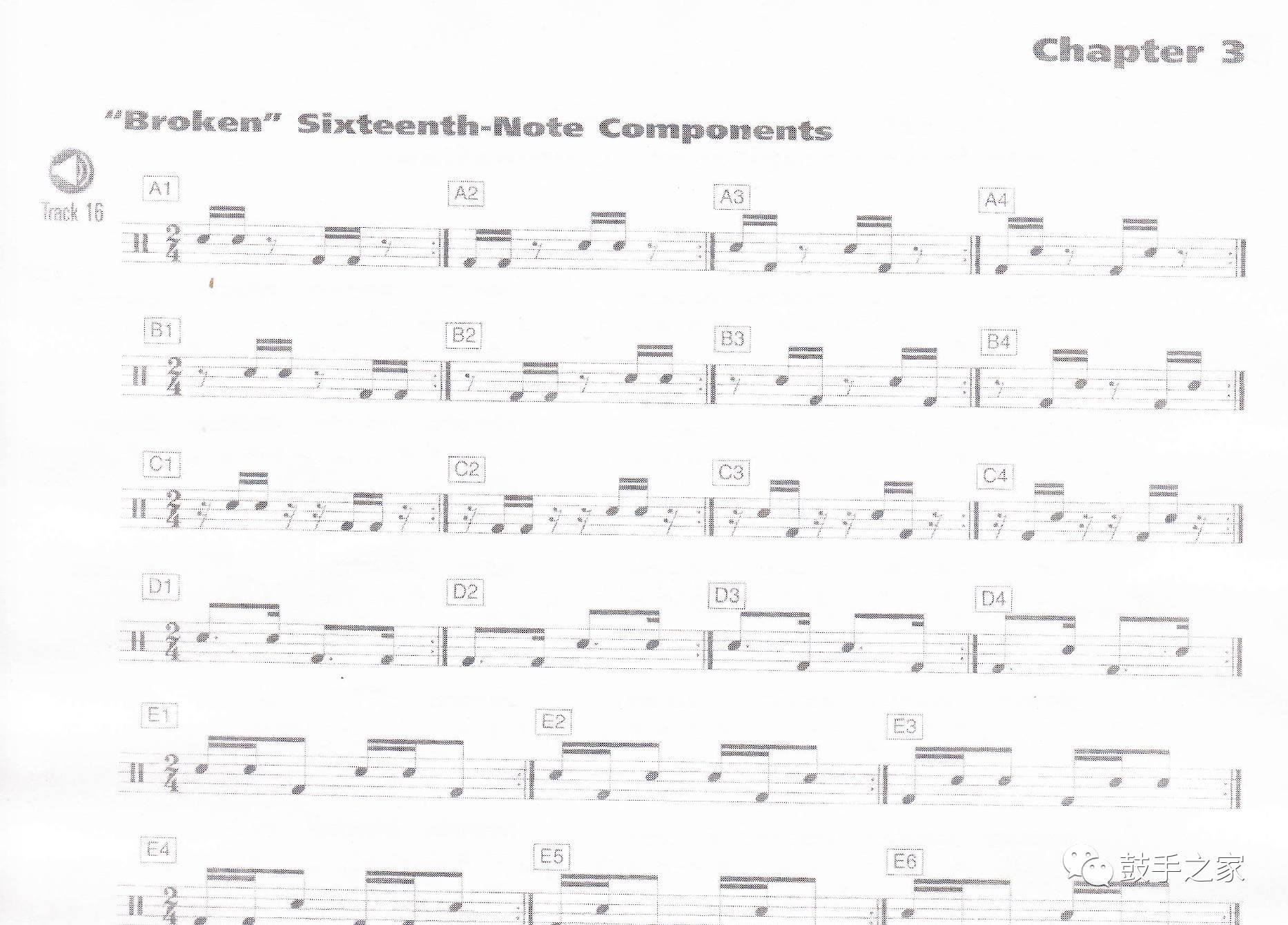 我们不一样架子鼓谱-编号18 爵士鼓加花大全 PDF鼓谱 音频