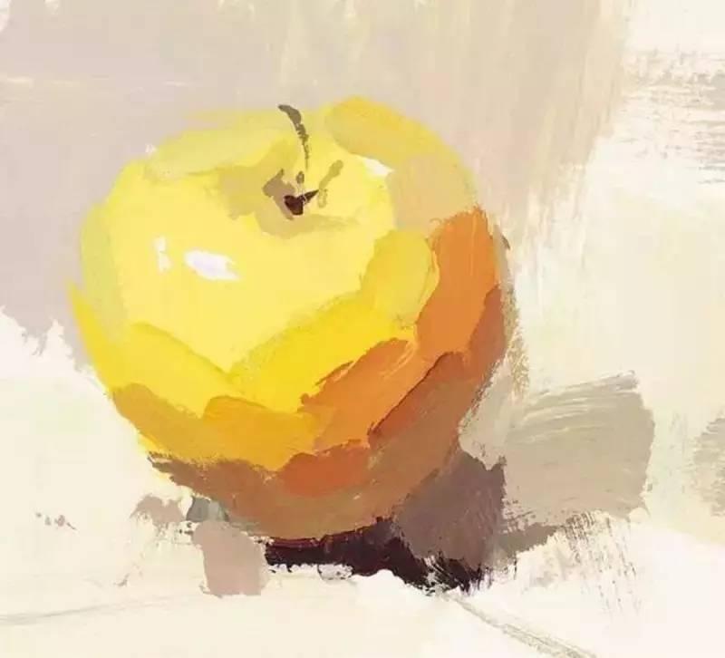 苹果素描起形步骤图解