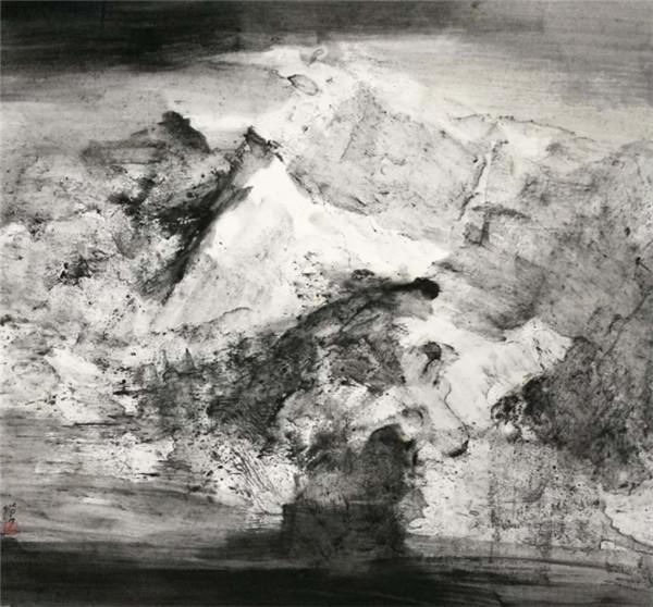 中国当代艺术家米金铭的水墨艺术