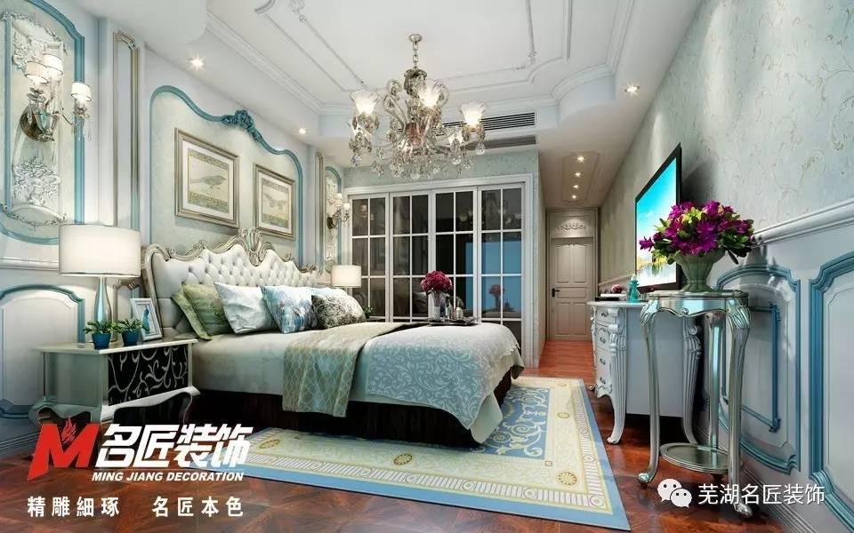 墙面造型线条,酒柜等,客厅地面及主卧地面也运用到了法式常有拼花地板图片