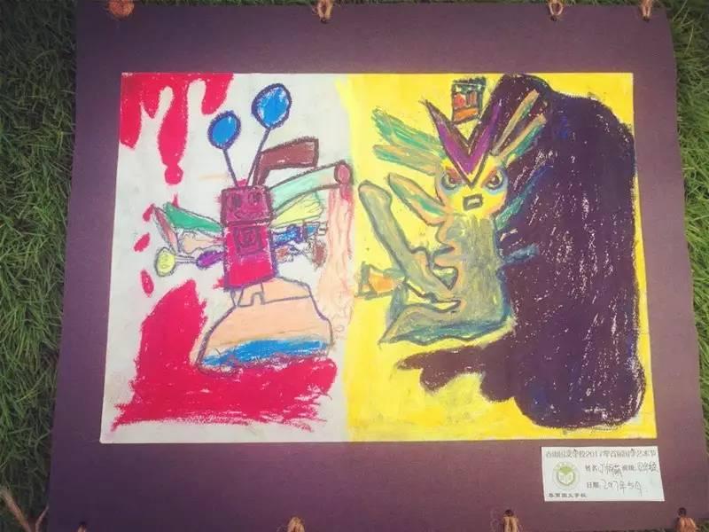 幼儿绘画春雨线条图片