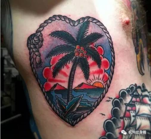tattoo | 纹身素材:椰子树