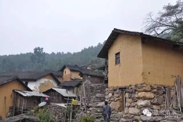 手绘建筑村落房子