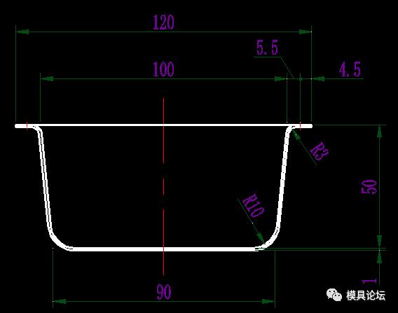 cad平面图100平方
