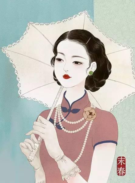 她笔下的民国旗袍美人,美的风情万种,惊艳了岁月