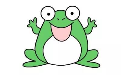 简笔画青蛙的画法简笔画动画教程之青蛙的绘画分解步骤6图片