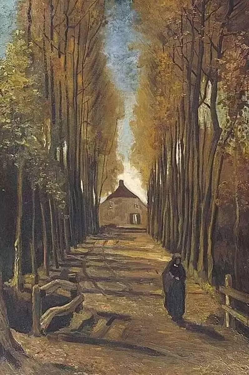 法国油画风景竖屏_壁纸 风景 森林 油画 桌面 798_1200 竖版 竖屏 手机