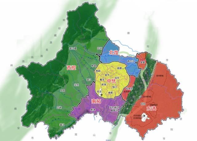 什么是中心城区 郊区新城?成都各市区县主导产业又是什么?图片