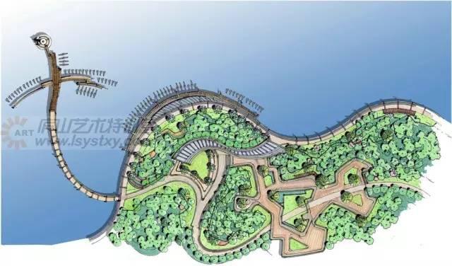 手绘滨水景观平面步骤解析