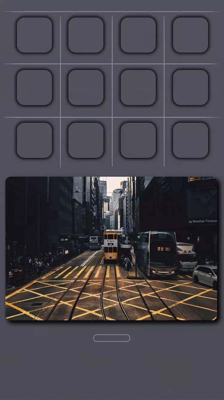 iPhone立体双色壁纸 完美贴合桌面