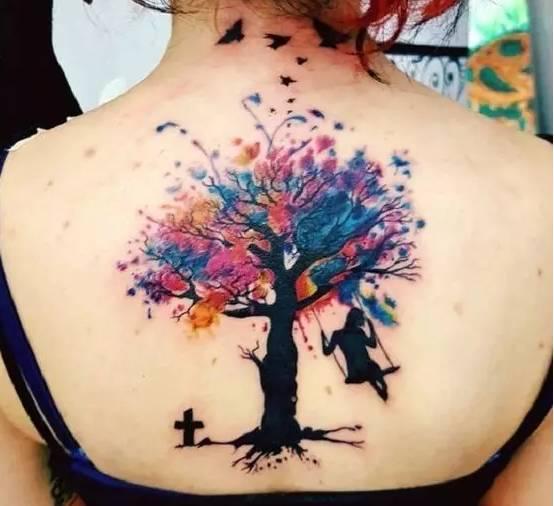 独自坚持-树纹身