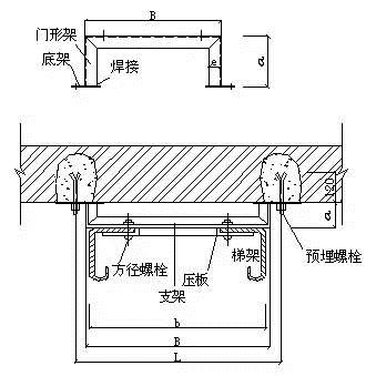 钢支架预埋地脚螺栓安装-不用找了 弱电桥架安装施工要求及规范在这
