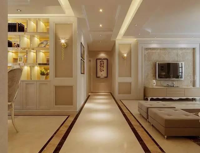 电视背景墙是印花壁纸,清新有质感.