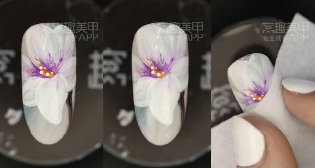 【窝趣美甲视频教程】优雅气质手绘花朵款