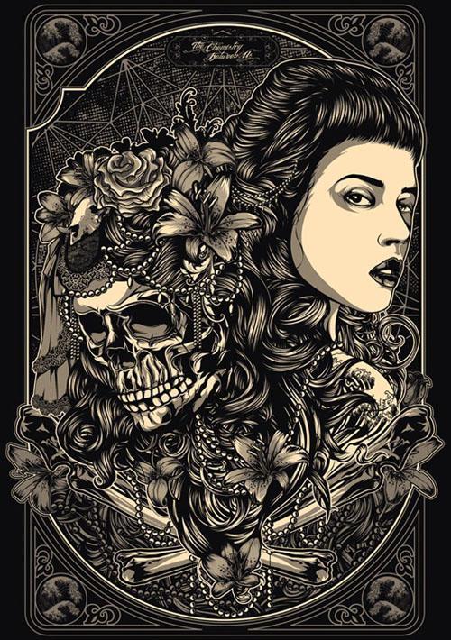 暗黑风格纹身小图手稿分享展示图片