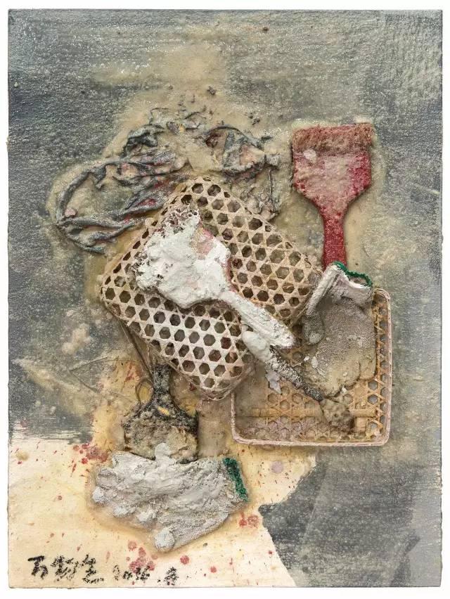 综合材料_涂抹的自由,来自头脑的风暴——杨劲松老师综合材料绘画讲座走进宁海
