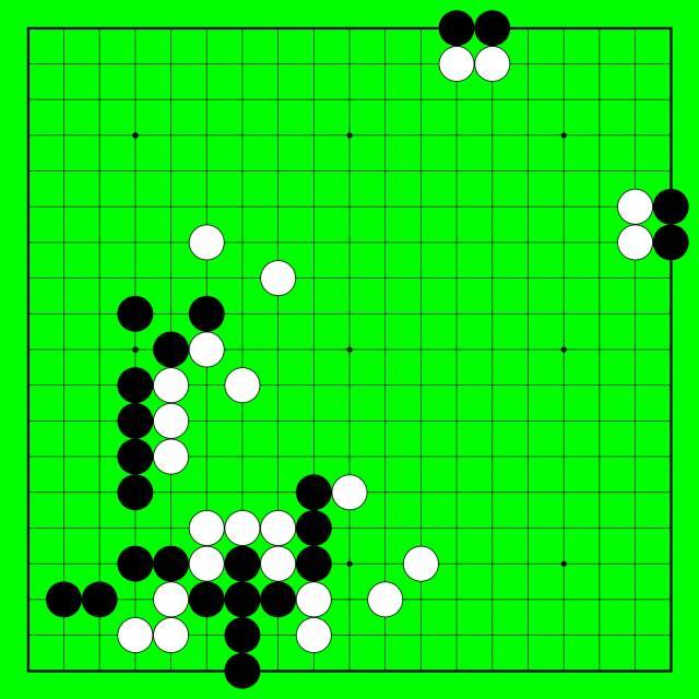 围棋趣味征子长空射雁动态图图片