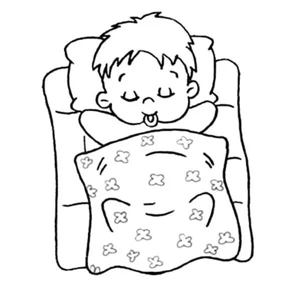 睡觉的小男孩简笔画怎么画 睡觉的小男孩的简单画法 男孩简笔画 亲子简