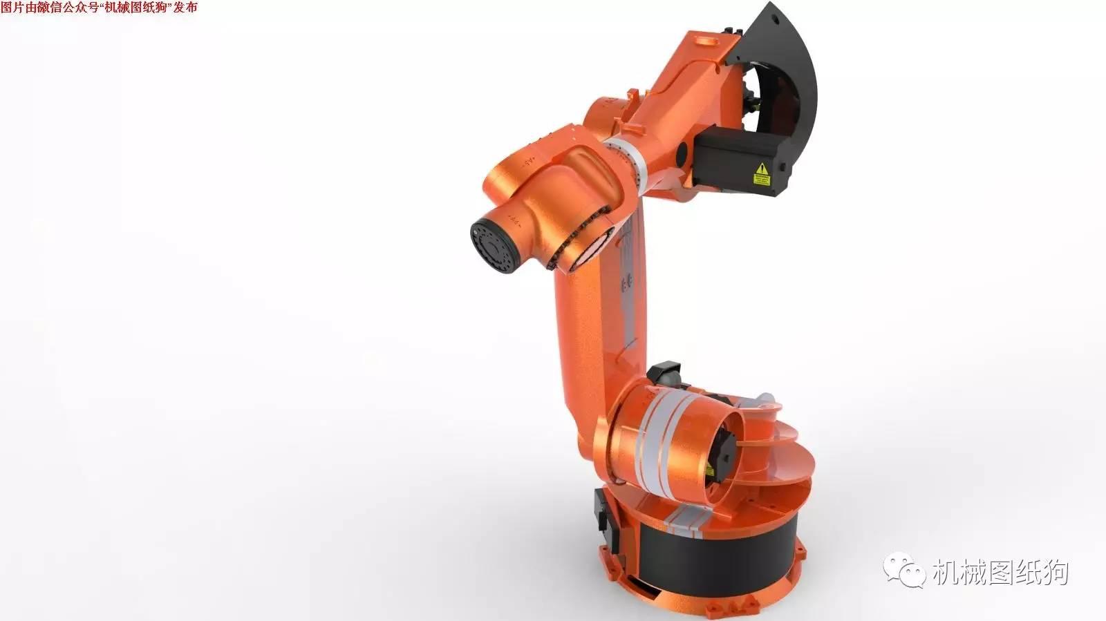 【机器人】6自由度vika-350工业机器人外形(无内部结构)3d图纸
