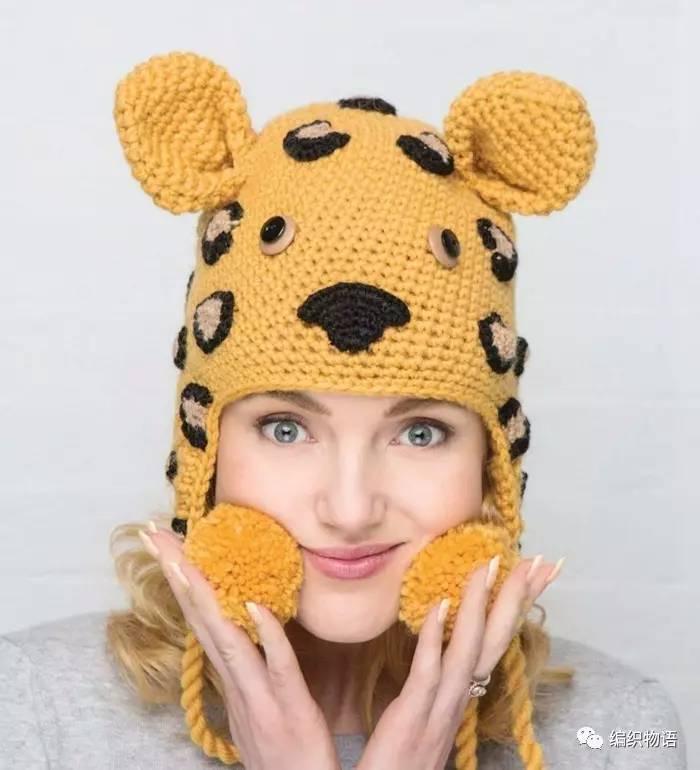 【20170043】钩针编织让你舒适且缓和的动物帽子欣赏