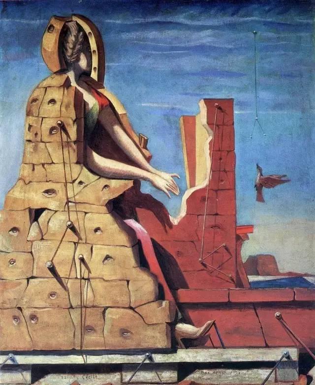 画创造了复杂的拼贴画.富有想象 然后在科隆参加了达达主义运动,